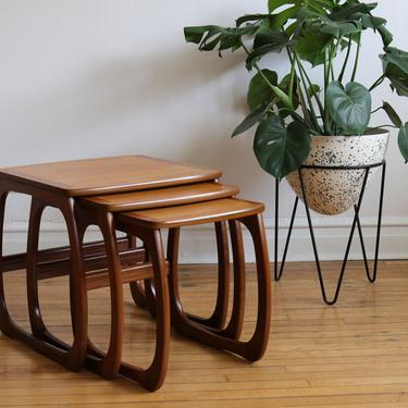 Mid Century Danish Modern Nathan Nesting Tables by SpacedOutFurniture