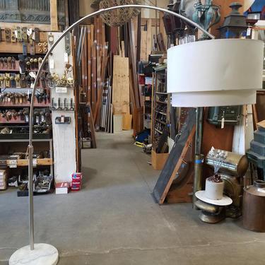 Arc floor lamp marble base 75 x 54