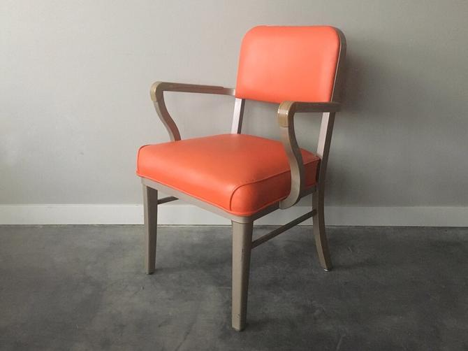 vintage mid century industrial Steelcase armchair.