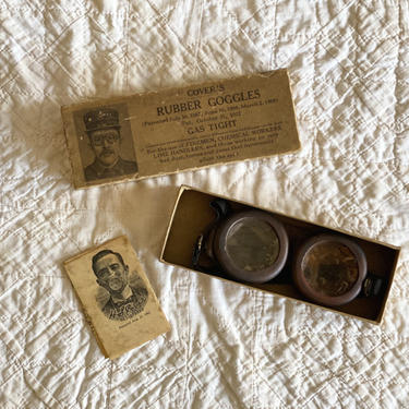 Antique 1920s Covers Safety Rubber Goggles Steampunk Apparel by NorthGroveAntiques
