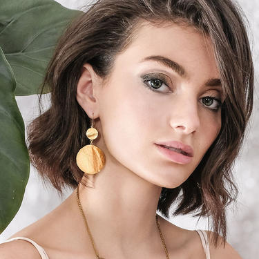 Statement Gold Dangling Earrings, Statement Earrings, Gold Dangle Earrings, Chandelier Earrings, Gold Statement Earrings, Gold Drop Earrings by OrlySegal
