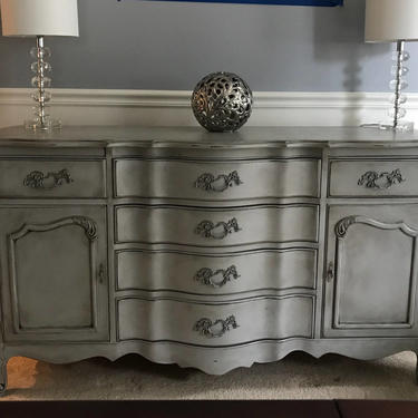 Gustavian Antique Gray French Buffet by Artisan8