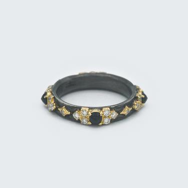 Black Sapphire Scroll Ring