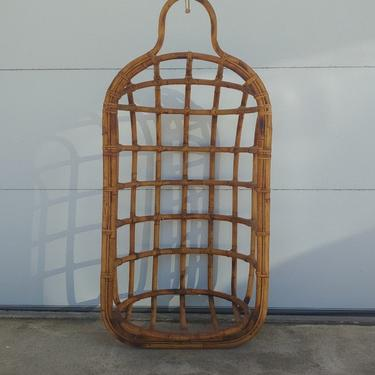 Vintage Rattan Hanging Lounge Egg Chair c1950's by ModandOzzie