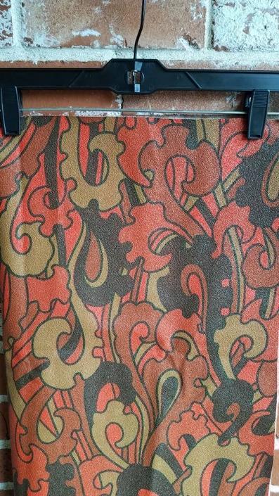 Vintage 60s/70s Paisley Vinyl Upholstery Fabric MCM RARE by FlashbackATX