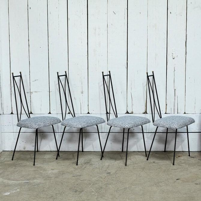 Mid Century Iron Chair Set
