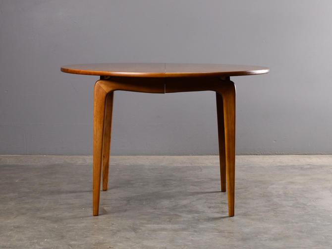 Mid Century Dining Table Round Lane Perception Walnut by MadsenModern
