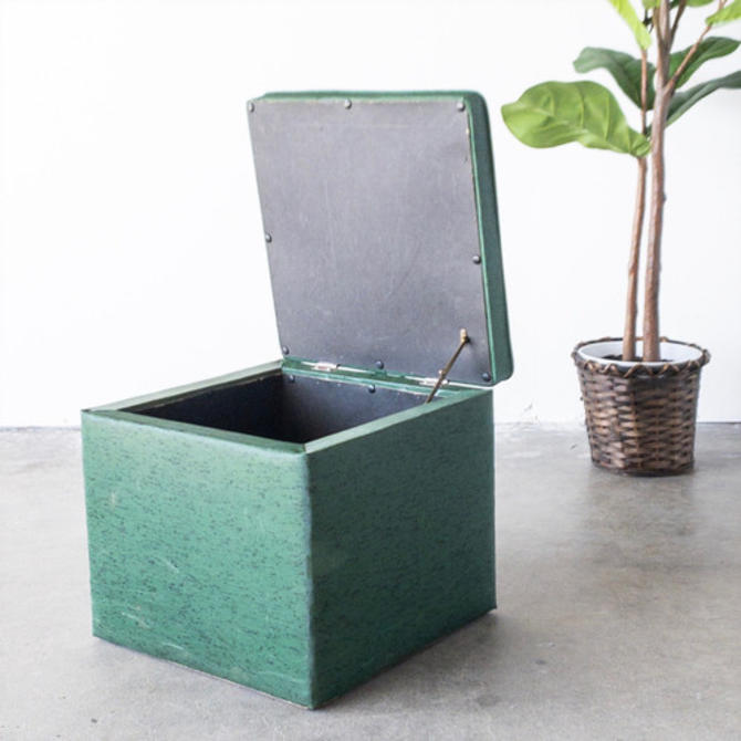 Miraculous Vintage Green Ottoman Storage Box From Sunbeam Vintage Of Short Links Chair Design For Home Short Linksinfo
