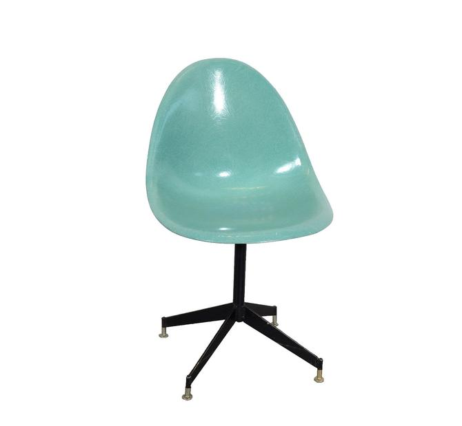 Fiberglass Shell Chair Sea Foam Green Aqua Green by HearthsideHome