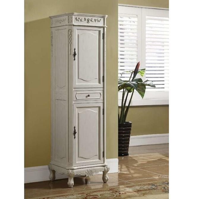 Astoria Grand Zeke French Style Linen Tower Cabinet
