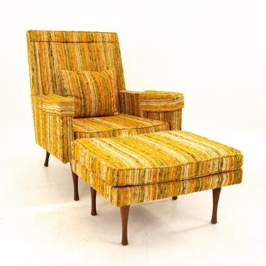 Paul McCobb for Widdicomb Symmetric Group Mid Century Lounge Chair with Ottoman - mcm by ModernHill