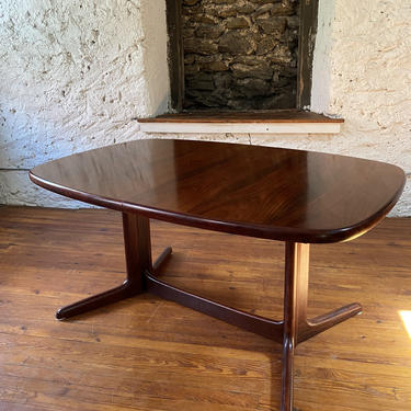Mid century dining table Rasmus rosewood table and leaves Danish modern dining table by VintaDelphia