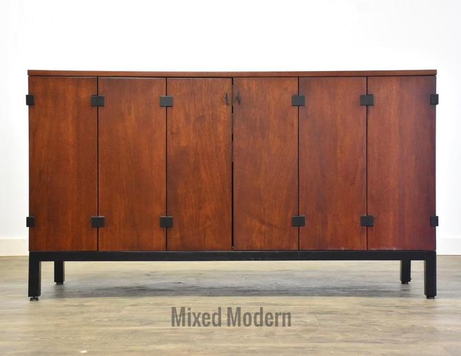 Milo Baughman for Directional Walnut Credenza by mixedmodern1