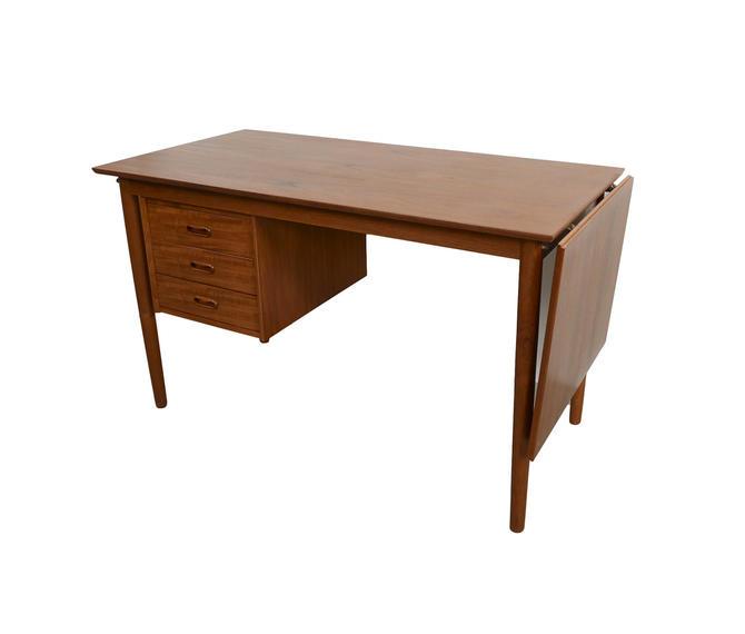 Arne Vodder Teak desk with Drop Leaf Danish Modern H. Sigh & Sons by HearthsideHome