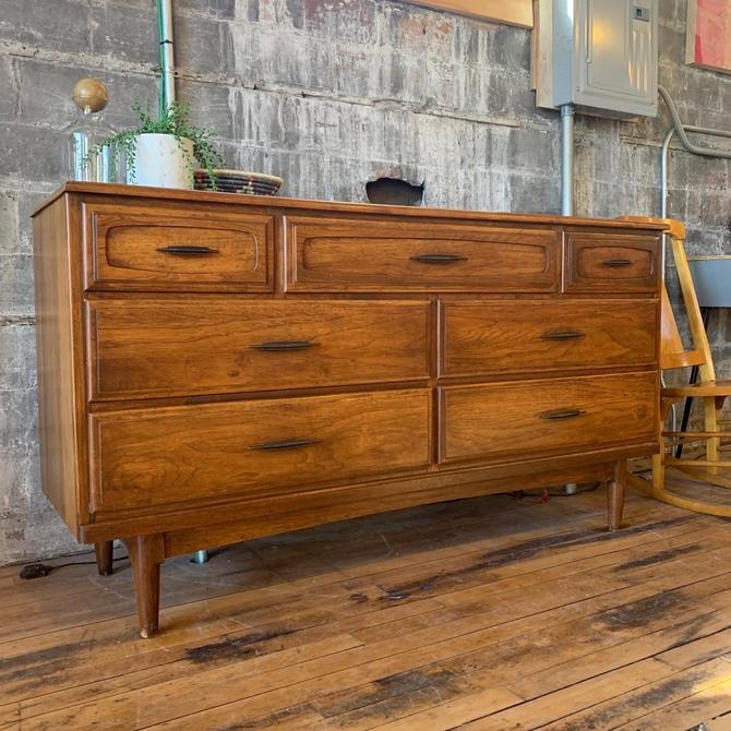 Mid-Century 7 Drawer Lowboy Dresser