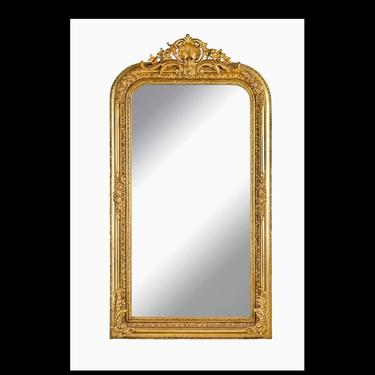 French Mirror *1 in Stock Left* French Baroque Mirror Rococo Mirror Antique Mirror 5 Feet Tall Gold Leaf Antique Furniture Interior Design by SittinPrettyByMyleen