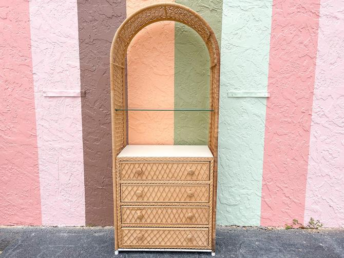 Arched Rattan Etagere