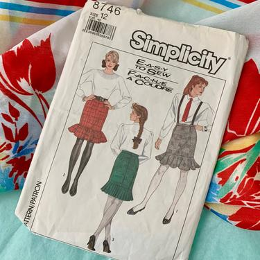 Vintage Sewing Pattern, Trumpet Skirt, Straight Skirt, High Waist, Complete with Instructions, Simplicity by GabAboutVintage