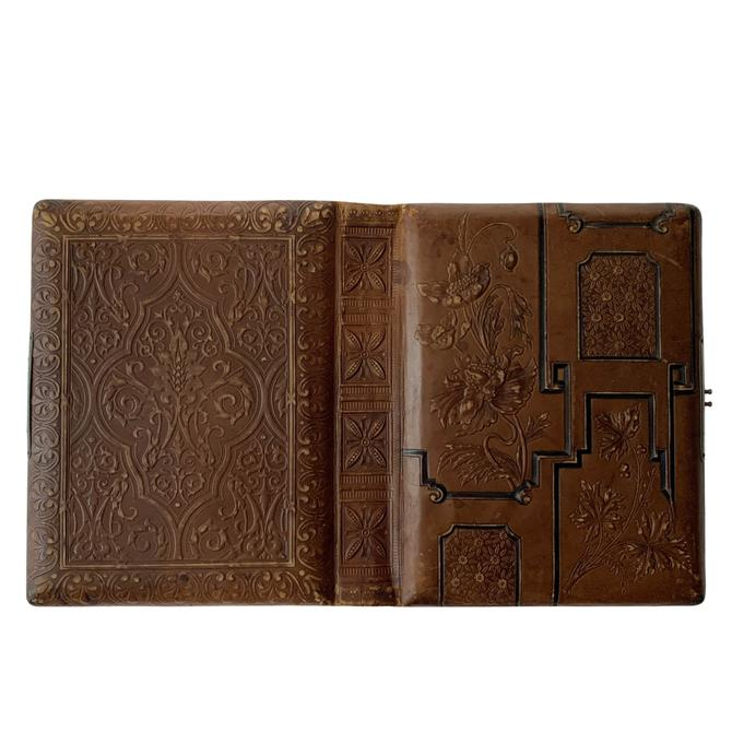 Antique Leather Photo Album For Supply by FunkyRelic