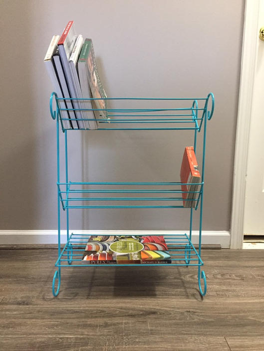 Mid Century Wire book shelf by MadModWorldVintage