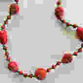 Egyptian Revival Red Czech Glass Heads Necklace Max Neiger by LegendaryBeast