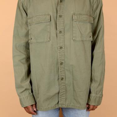 Vintage Eddie Bauer Greem Long Sleeve Oxford Button Down Outdoors Shirt XL XXL Oversize by MAWSUPPLY