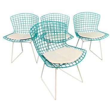 Set of Four Vintage Mid Century Modern Dining Chairs by Harry Bertoia for Knoll. by AymerickModern
