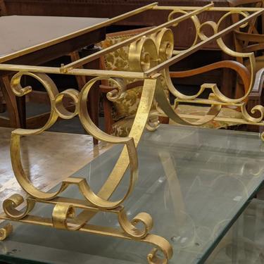 Raymond Subes gilt forged iron coffee table (#1628)