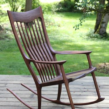 Walnut Rocking Chair - Maloof Inspired by MakersWoodworks