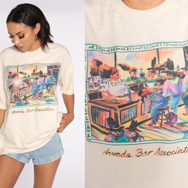 Nevada Bar Association Shirt Cowboy Tshirt 1990s Graphic Tee Shirt Vintage 80s Tshirt Retro T Shirt 90s Single Stitch Large L by ShopExile