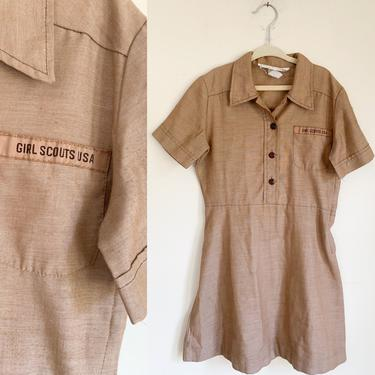 Vintage 1960/70s Girl Scout Brownie's Uniform Dress / girl's size 7 by MsTips