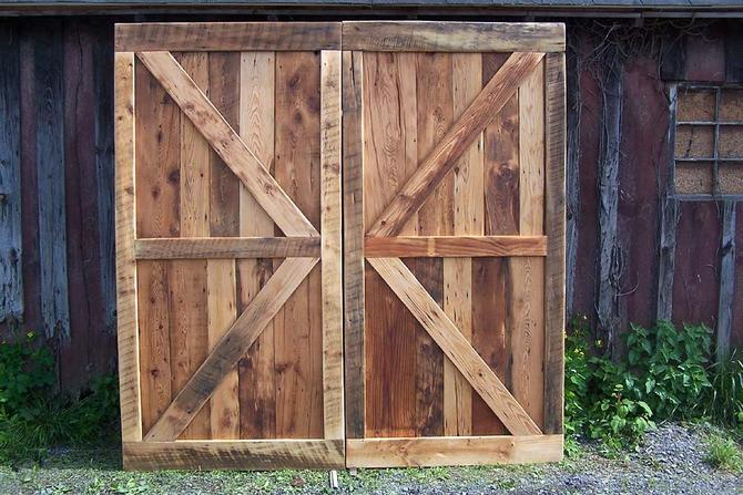 Free Shipping! Vintage Barn Doors Made from Reclaimed Antique Pine by BarnWoodFurniture
