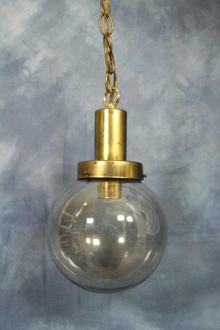 Vintage glass globe hanging swag lamp mid century modern brass by vintagegoofball from vintage goofball of harrisonburg va