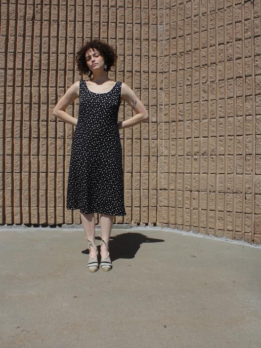 Escada Polka Dot Silk Dress