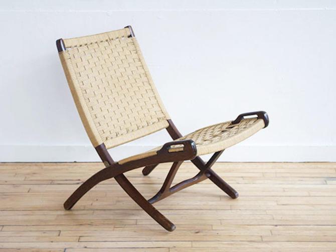 Yugoslavian Folding Scissor Lounge Chair