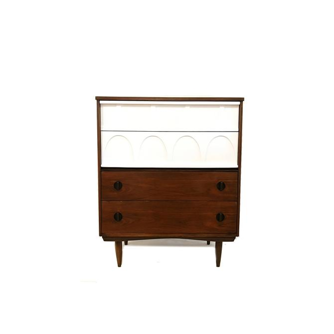 Vintage MCM Dresser In Wood and White by minthome