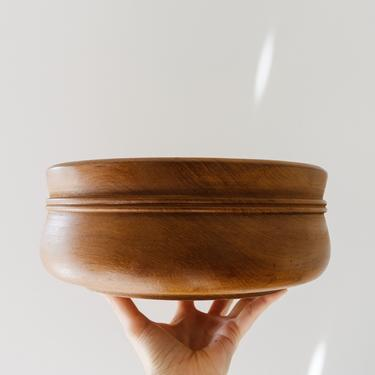 Large Danish Modern Wood Salad Bowl by GlitteryMoonVintage