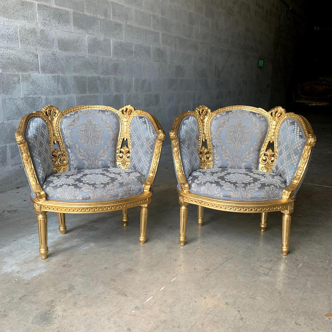 French Chairs French Tufted Chair Vintage Furniture French Chair Vintage Chair Interior Design Corbeille Chair Baroque Furniture Rococo by SittinPrettyByMyleen