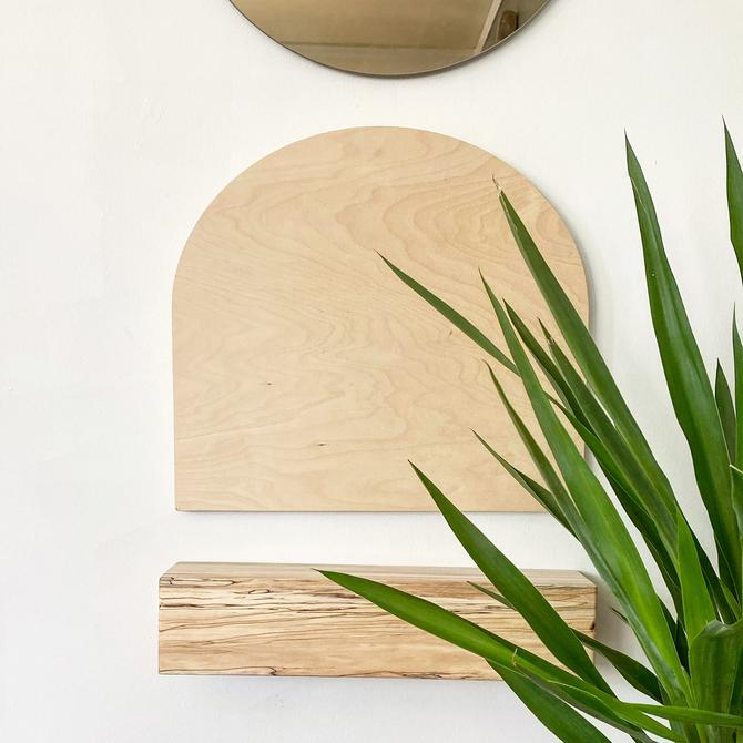 """Totem-""""Fermata"""" Unfinished Modern Arch, Wooden Arch, Arch Wall Decor, Scandinavian Wood Wallhanging by shopcandiceluter"""