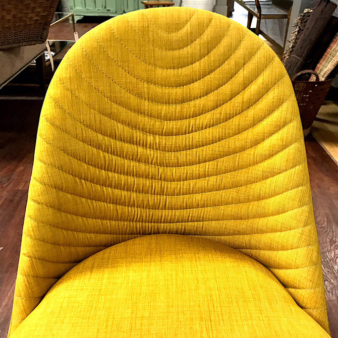 Alluring Yellow Upholstered Dining Chair