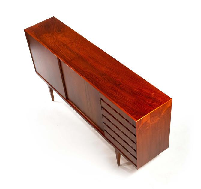 "VINTAGE - Henry Rosengren Hansen, ""Model 38"" sideboard  in walnut by Brande Møbelindustri. Denmark 1960s, by TheModernFind"