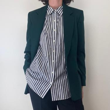 vintage forest green wool pendleton blazer small by miragevintageseattle