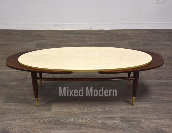 Mid Century Surfboard Coffee Table by mixedmodern1