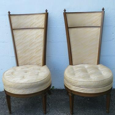 Hollywood Regency Mid Century Tall Pair of Side Chairs 2426