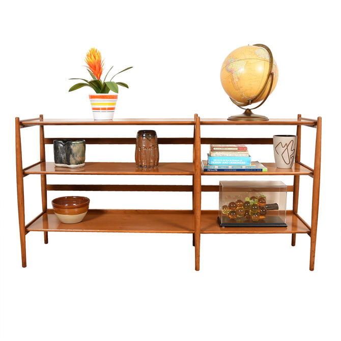 Mid Century Walnut Framed Bookcase