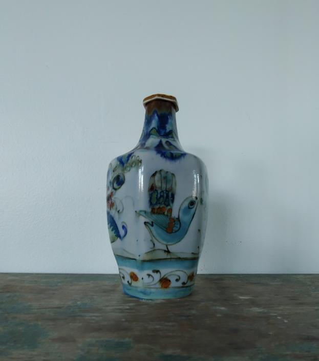 Vintage Mexican Ken Edwards Style Handmade Pottery Carafe decanter Vase by ModandOzzie