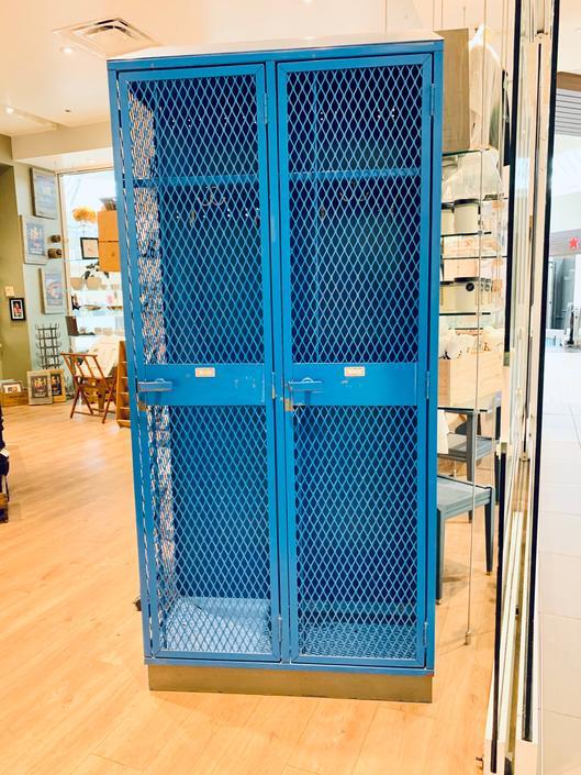 Blue Metal Lockers   Vintage School Lockers   Vintage Gym Lockers   Industrial Lockers   Metal Storage   Entryway   Kids   Sports   Closet by PiccadillyPrairie