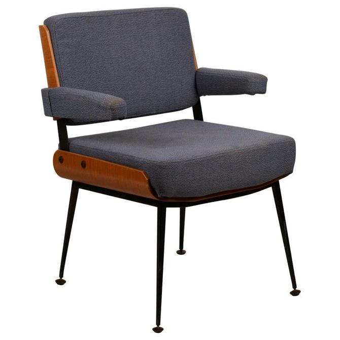Impeccable French 1960s Bentwood Armchair by Alain Richard