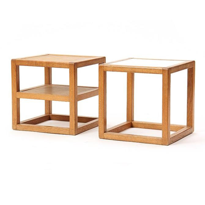 Pair of Cube Side Tables