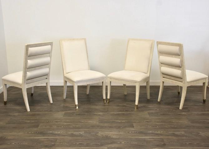 Henredon White Modern Dining Chairs- Set of 4 by mixedmodern1